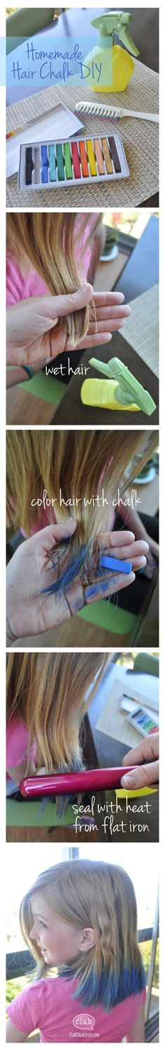 Create this cool hair fashion trend at home with the easy homemade hair chalk DIY @clubchicacircle