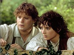 """Sean Astin as Samwise Gamgee and Elijah Wood as Frodo Baggins in """"The Lord of the Rings"""" movies. Legolas, Aragorn, Gandalf, Elijah Wood, Lord Of Rings, Fellowship Of The Ring, Frodo Baggins, Into The West, Into The Fire"""