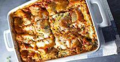 Lasanha de Frango com Espinafre | Receitas e Dicas do Chef Lasagna, Breakfast, Ethnic Recipes, Food, Chicken Lasagna Recipes, Spinach Lasagna, Stuffed Fish, Ethnic Food, Drink