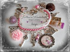 Alice in Wonderland Jewellery bracelet  handmade by EveIsScrapping  Hand Made Pale Pink Alice in Wonderland bracelet I made it of high quality materials.