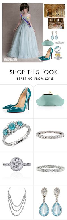"""2024 - Hosting a tea party at the Palace"" by princesscarolina ❤ liked on Polyvore featuring Sebastian Professional, Christian Louboutin, Anya Hindmarch, Blue Nile, Tiffany & Co., McTeigue & McClelland and Ultimate"