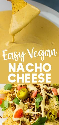 vegan recipes Easy Vegan Nacho Cheese Sauce will make it easier to give up cheese! Easy Vegan Nacho Cheese Sauce will make it easier to give up cheese! Delicious on nachos. Vegan Cheese Recipes, Vegan Mexican Recipes, Vegan Cheese Sauce, Vegan Sauces, Vegetarian Recipes, Cheese Sauce For Nachos, Dairy Free Nacho Cheese, Best Vegan Cheese, Veggie Cheese
