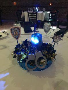 Centerpieces for police academy graduation