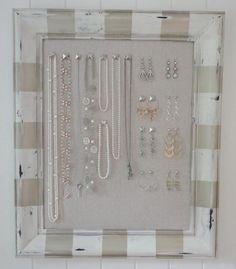 DIY Corkboard Jewelry Organizer
