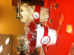 """Heart beat"" lollipops & ""cotton balls"" (large marshmallows)- medical themed party"