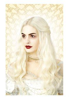 Reina Blanca  (Anne Hathaway) Alice in Wonderland