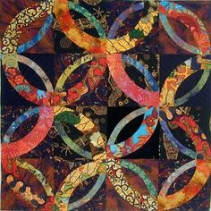 African Wedding Ring from Pinterest I love the strong colors and design of this quilt.