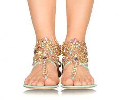 Rene Caovilla Embellished Sandals