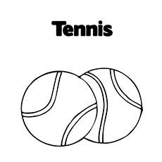 Top 25 Free Printable Tennis Coloring Pages Online