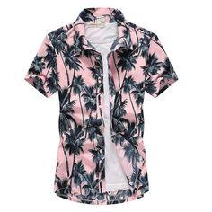 heymoney Mens Blouse 50s Male Rockabilly Style Shirt Casual Bowling Dress Shirts