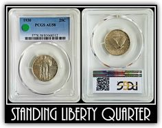 """😎🗽🇺🇸 1930 Standing Liberty Quarter. Also known among collectors as an """"SLQ"""". 1930 was the last year for this classic design. This was a relatively short-lived series (15 years, 1916-1930)."""