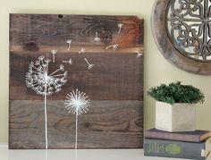 painting on reclaimed wood | Hand Painted Reclaimed Wood Art...