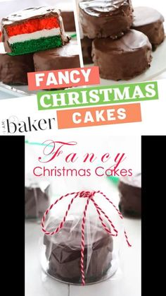 Try to explore this fancy Christmas cakes dessert recipe that will add life to the occasion. Fancy Christmas cake with the whipped filling was never tasty until this amazing tutorial happened. Christmas Snacks, Christmas Pudding, Holiday Treats, Christmas Cookies, Holiday Recipes, Christmas Candy, Christmas Recipes, Christmas Desserts, Christmas Baking