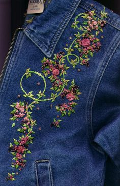 This is beautiful! On a denim jacket, no less.cj.