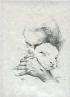 My favorite image of the Good Shepherd, which was on the wall in the St. Therese Parish atrium (the parish where I started volunteering with this ministry).