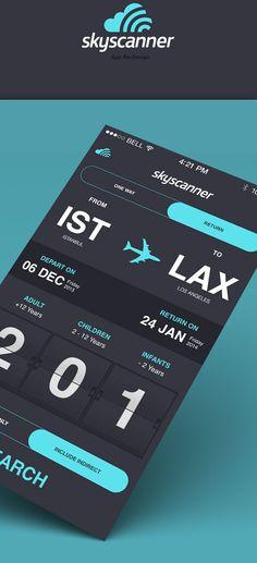 skyscanner app ui - Buscar con Google