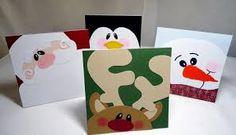 Resultado de imagen de como hacer una tarjeta de papanoel de navidad