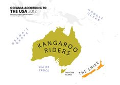 Oceania According to Americans 2012 31 Maps Mocking National Stereotypes Around the World | Bored Panda