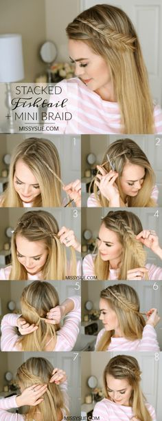 I've been watching this Mini And Fish Tail Stacked Braid Hairstyle everywhere! Since always in the back of my mind, I thought it would be fun to share how the style was going. Headband braids are a great way to add a little something extra to your favorite curls or waves. For this look, I have decided iron …