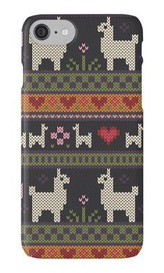 Llama Knit by Kelsey Cretcher