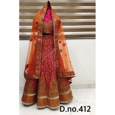 Exclusive Bridal Designer Lehenga ( D.No.412 )