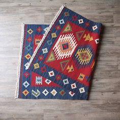 美式印第安民族风格手工编织基利姆地毯