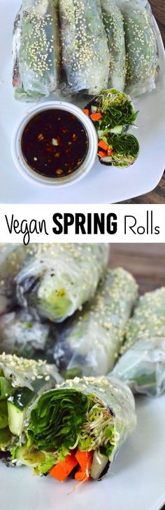 These almost raw spring rolls are really easy and can be made in less than 20 minutes!