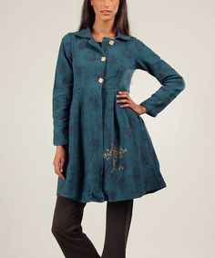 Look what I found on #zulily! Green Solene Coat by Ian Mosh #zulilyfinds BoHo may appeal to the hippie in you