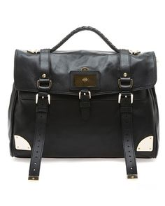 Mulberry 'Oversized Travel' Leather Satchel