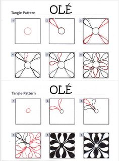 How to draw OLÉ « TanglePatterns.com