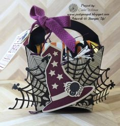 Just Sponge It: Double French Fry Box, Day 3 Mini Blog Hop, Howl-o-ween & Sweet Hauntings stamp sets, Happy Haunting Designer Series Paper, Black Glimmer Paper, Spider Web Doilies, Big Shot, Fry Box Die, Halloween, DIY, Stampin' Up!