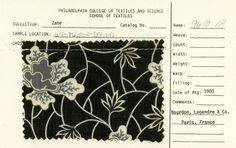 Floral print on cotton. Late 19th century.