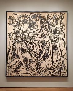 """Jackson Pollock's """"Echo: Number 25 1951"""" is back on view at MoMA as part of """"Jackson Pollock: A Collection Survey 19341954"""" after its recent visit to @dallasmuseumart. See it before the exhibition closes May 1. [Shown: Jackson Pollock. """"Echo: Number 25 1951."""" 1951. The Museum of Modern Art New York.  2016 Pollock-Krasner Foundation / Artists Rights Society (ARS) New York. Installation view of """"Jackson Pollock: A Collection Survey 19341954"""" at The Museum of Modern Art New York (November 22…"""