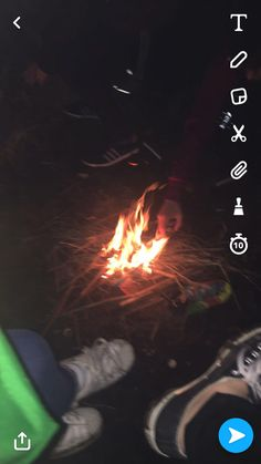 Snapchat  Campfire, friends The waterfall  03/03/17