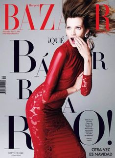 Bette Franke - Harper's Bazaar Magazine Cover [Spain] (December 2013)