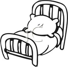 White 0511 1008 0319 2532 Black And White Cartoon Bed Clipart Image Black and white cartoon Clip art Coloring pages for boys