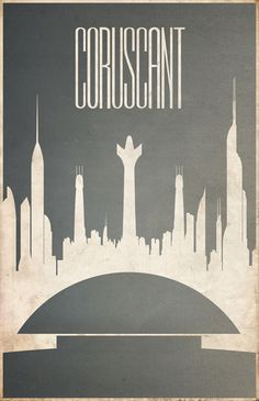 As if the fictional worlds from comic books and sci-fi flicks weren't already on most geek's destination wish lists, Justin Van Genderen's new travel posters show off pulp cities like Coruscant.