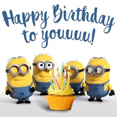 The perfect HappBirthdayToYou Minions Cake Animated GIF for your conversation. Discover and Share the best GIFs on Tenor. Happy Birthday Minions Gif, Happy Birthday Gif Images, Birthday Wishes Gif, Happy Birthday Signs, Singing Happy Birthday, Happy Birthday Greetings, Minions Singing, Birthday Gifs, Funny Animals