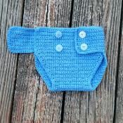 Crochet Infant-6 month baby diaper cove - via @Craftsy