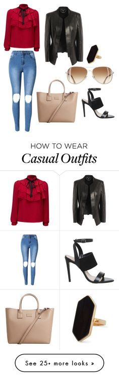 """Casual lady"" by okorodeoghenetejiri on Polyvore featuring WithChic, MANGO, Alexander McQueen and Jaeger"