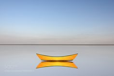Yellow Dory at Low Tide by steve260  http://ift.tt/2cfCiQ8