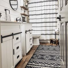 Decor, Home, Burgundy Rugs, Farmhouse Bathroom, Bathroom, Modern Farmhouse Bathroom, Ruggable, Bathrooms Remodel, Bathroom Inspiration