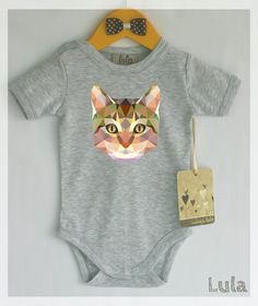 3058f8cdf04 Cat baby clothes. Cute and funny baby boy or girl cat print romper