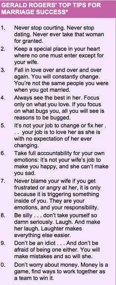Replace the words Woman, Her, Wife with 'Man, His/him, Husband'.   This equally is applicable on both sides. Care should be coming from both sides, both sides should work to fall in love daily.