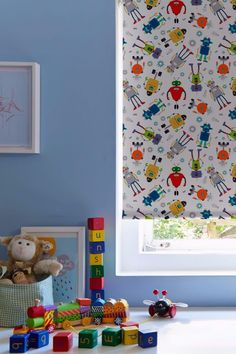Web-blinds offer stylish roller blinds for your home. Robots Multi blinds are a great choice for anyone who is after quality. Skylight Blinds, Blackout Blinds, Roman Blinds, Roller Blinds, Color Splash, Futuristic, Bedrooms, Palette, Cushions