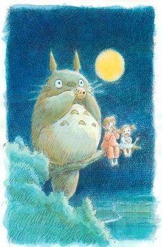 My Neighbor Totoro Movie Poster Print - 11x17 by Pop Culture Graphics, http://www.amazon.com/dp/B001XUTVLK/ref=cm_sw_r_pi_dp_WZHsqb1MZ10K6