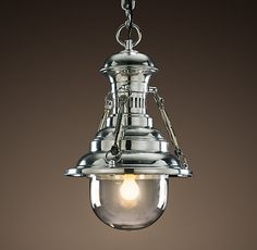 Rotterdam Industrial Dock Pendant  $695 Special $550      Patterned after the elegant, utilitarian lighting of early-20th-century Northern European ports, our pendants are faithfully reproduced and built to last a lifetime.