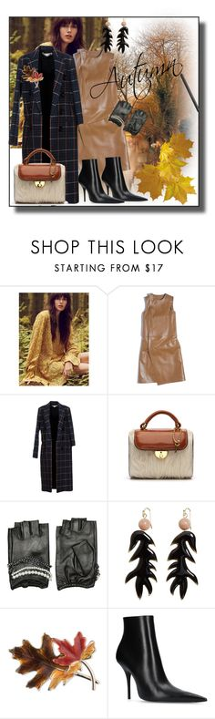 """Autumn"" by zakharova-83 ❤ liked on Polyvore featuring Free People, Balenciaga, Victoria Beckham, Maison Margiela, Karl Lagerfeld, MANGO, Anne Klein and Estée Lauder"