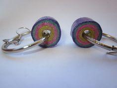 Pendientes colgantes - Pendientes serpentina - hecho a mano por Anita-artesania en DaWanda