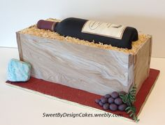 Wine Bottle Cake Cake measures x Sugar paste wine bottle, cheese and grapes. Wine Bottle Cake, Fondant, Cake Central, Sugar Paste, Cake Art, Custom Cakes, Cupcake Cakes, Cupcakes, Cake Pops